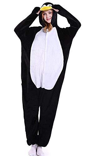 ABYED® Kostüm Jumpsuit Onesie Tier Fasching Karneval Halloween kostüm Erwachsene Unisex Cosplay Schlafanzug- Größe L-für Höhe 164-174CM, Penguins