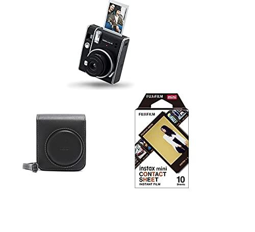 Fujifilm Instax Mini 40 Instant Camera + Custodia Originale per Macchina Fotografica Istantanea Instax Mini 40 + Instax Mini Film Pellicola, Foglio di Contatto, Confezione da 10 Foto