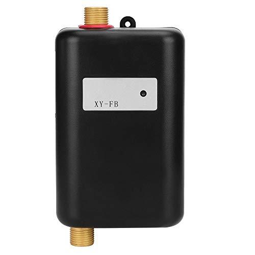 Sorand Durchlauferhitzer, Trinkbar Warmwasserbereiter Elektrisch, Mini Durchlauferhitzer mit Kontrollleuchte Startseite/Bad/Küche/Camping/Outdoor/Dusche - Schwarz(EU-Stecker)