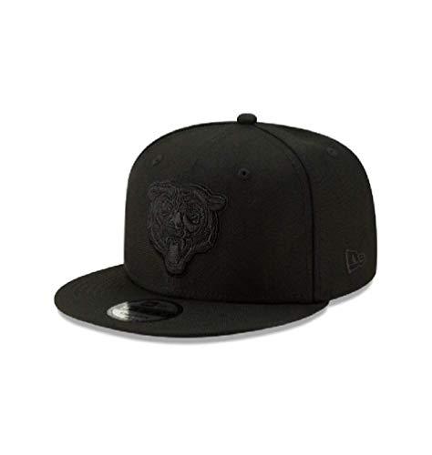New Era Chicago Bears Hat NFL Black on Black Alternate Logo 9FIFTY Snapback Adjustable Cap Adult One Size