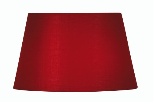 Oaks Lighting S901/8 RED Paralume in cotone, 12.3 x 20.5 x 15.5 cm, Rosso