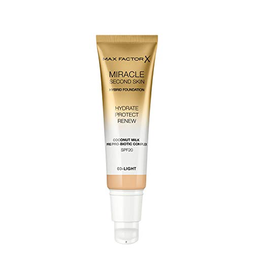 Max Factor Miracle Touch Second Skin, Light, 30 ml