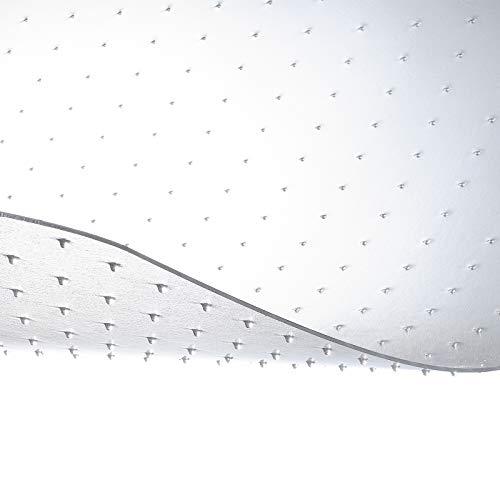 etm® Bodenschutzmatte - 114x114cm | TÜV | transparent, mit Ankernoppen für Teppichböden