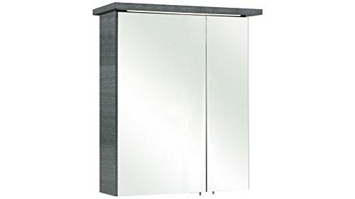 Pelipal Spiegelschrank, Graphit Struktur quer Nachbildung, 20x60x72 cm