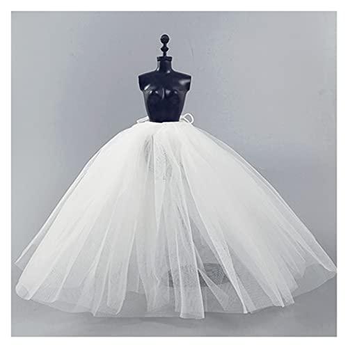 Resbalón de la enagua blanca para la muñeca de Barbie Vestido de...