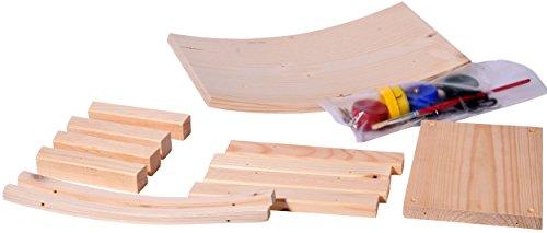 dobar 26051e Vogelhaus Bausatz für Kinder, aus Holz zum Aufhängen, 29 x 18 x 14 cm, bunt - 3
