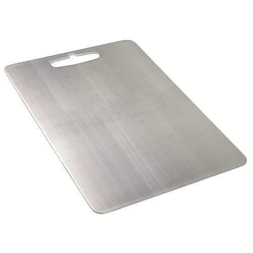 Annkky Kitchen Cutting Board, Rectangular Chopping Board, Stainless Steel
