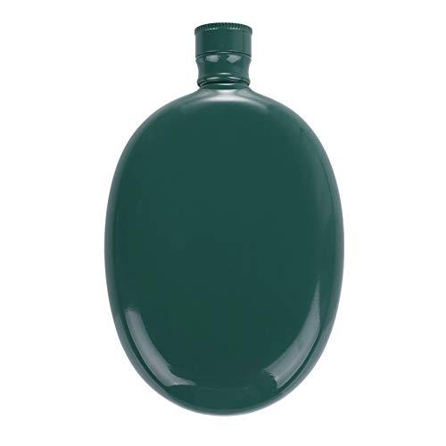 HEESUNG Petaca de acero inoxidable, 3 onzas de bolsillo, licor de whisky, petaca de vino, botella de alcohol, color verde invisible