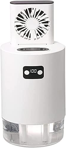 wsbdking Acondicionador de Aire portátil Oculto Fan, Mini Mini Desktop Air Enfriador de Niebla de Aire, Humidificador silencioso Evaporativo USB de 3 velocidades, Ventilador de Escritorio A