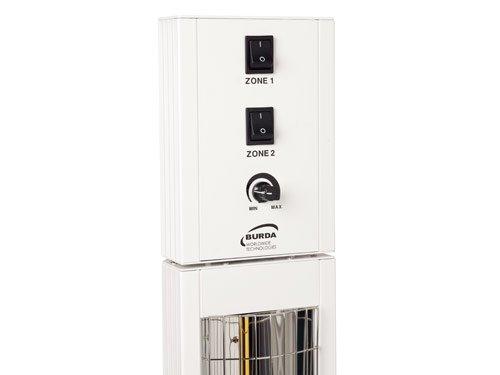 BURDA BHST3024 Heizstrahler 3,0 kW weiß low glare IP24 - 2