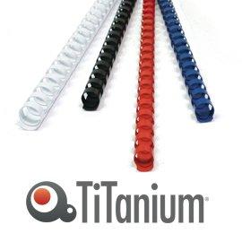 TITANIUM 50 plastic bindruggen 21 ringen 50 mm titaanblauw