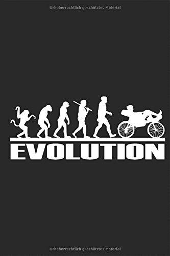 Liegefahrrad Evolution Affen zum Liegeradfahrer Notizbuch: Liegerad Liegefahrrrad Notieren Rechenheft Liniert Journal A5 120 Seiten 6x9 Heft ... für Liegeradfahrer und Spezialradfans
