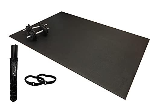SquareFit - Tapis de Sol Fitness Extra Large | 122x183cm épaisseur 6mm | Grand Tapis de Sport Ultra Résistant et Antidérapant pour HIIT, Musculation, Crossfit, Cardio Training, Corde à sauter
