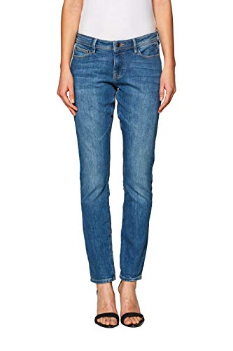 edc by ESPRIT Damen 998CC1B828 Slim Jeans, 903/BLUE Light WASH, W32/L34 (Herstellergröße: 32/34)