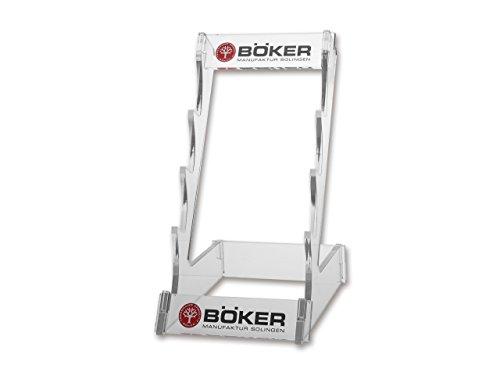Böker Manufaktur Solingen Acryl Display Fahrtenmesser 4 Transparent - 14,5 x 26 cm (B/H)