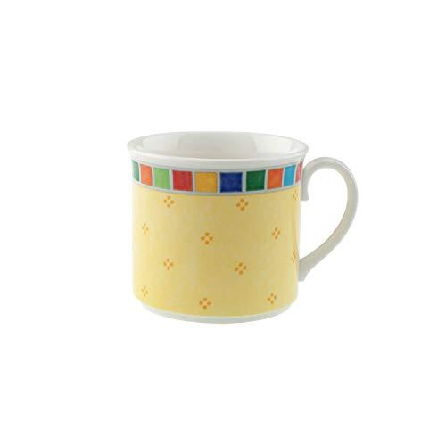Villeroy & Boch - 10-1360-1240 - Twist Alea Limone Tasse A Cappuccino, Tasse A Café Colorée en Porcelaine Premium avec Des Ornements Colorés, 300 ml