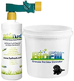 BioTurf Mini Power Pack | 32oz Bottle with Sprayer Plus 8lb Pail of BioFill (Save $4.00) Artificial Turf Pet Odor Elimination Mini Power Pack