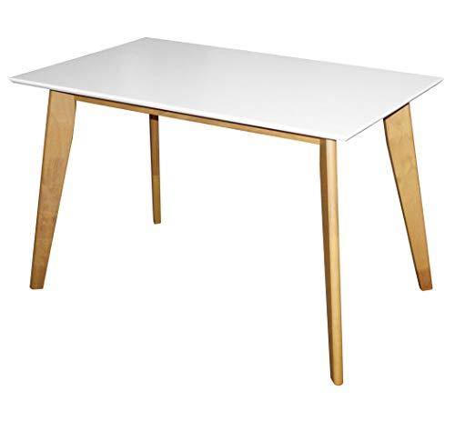 KMH®, Rechteckiger Esszimmertisch Jutta (120 x 70 cm) Weiss (#201201)