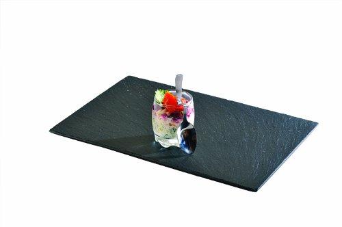 Lebrun 410230120104 Assiette Rectangulaire Ardoise 30 x 12 cm Lot de 4