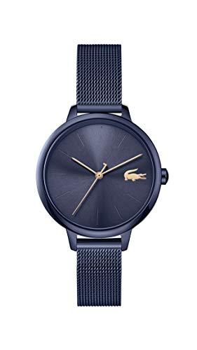 Lacoste Damen Analog Quarz Uhr mit Edelstahl Armband 2001129