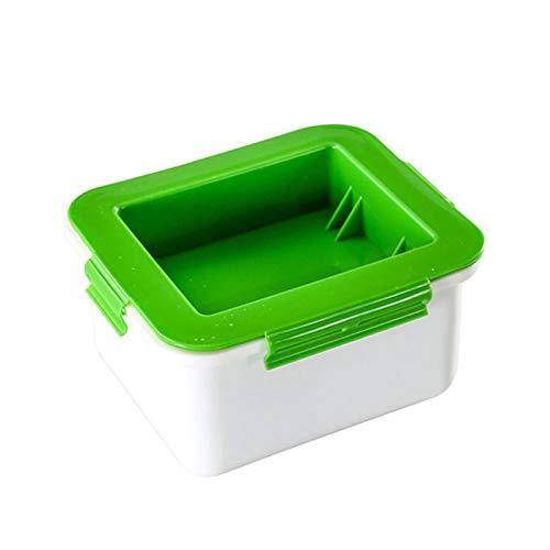 Crazyfly Tofu-Presse, Tofu-Presser, Abtropffläche, Wasserentfernungsgerät, entfernt Feuchtigkeit von Tofu automatisch für Tofu