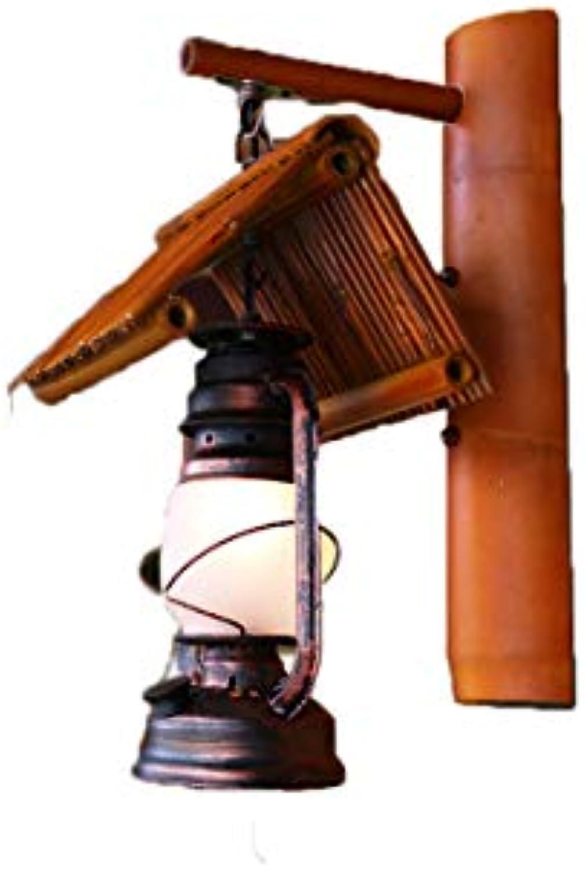 Wandlampe Bambus Restaurant Flur Lampe Garten Balkon handgefertigte Dekoration Bambus Lampe Kerosin Wandlampe