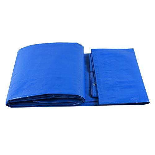 Bâche en Plastique PE Imperméable Écran Solaire Anti-Pluie Imperméable À l'eau De Protection en Tissu Pare-Soleil Auvent De Couleur Bleu Et Blanc 140g / M2 (Taille : 3X4M)