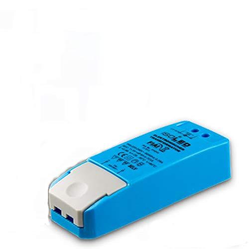 LED halógeno MR16GU5.3, 12V/AC, de 0 a 70W, sin carga mínima, sin parpadeo de LED, sin ruido del transformador, fuente de alimentación del controlador LED regulable, sin carga mínima, 70VA