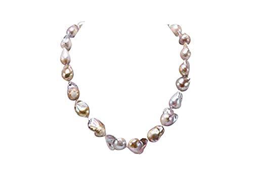 JYX 12 × Collana di Perle 16,5-13,5 × 25 mm Lavanda Barocco Edison