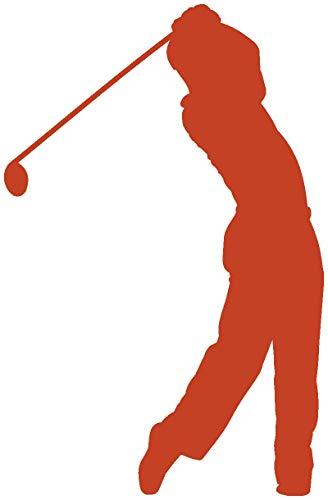 plot4u Autoaufkleber Golfspieler Aufkleber in 7 Größen und 25 Farben (50x33cm kupfermetalleffekt)