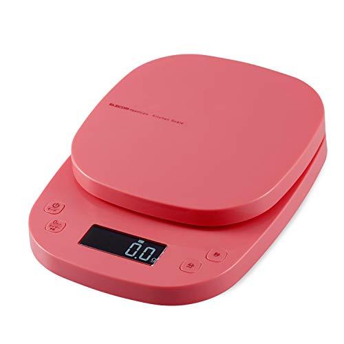 エレコム キッチンスケール タイマー付 最大2kg 最小0.1g表示 ピンク HCS-KS03PN
