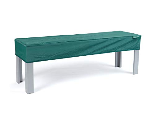 Covermates Rectangular Table Top Cover - Light Weight Material, Weather Resistant, Elastic Hem, Middle Buckle Strap, Patio Table Covers-Green