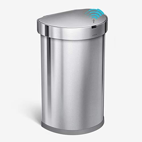 simplehuman 45 Liter, Trash Can, Brushed