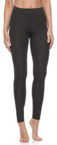 Merry Style Damen Lange Leggings aus Baumwolle MS10-198 (Graphit, L)
