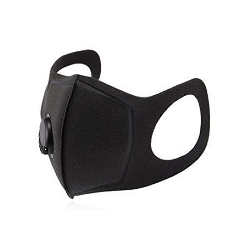 Máscara Antipolvo, Máscara Facial Negra Unisex Máscara