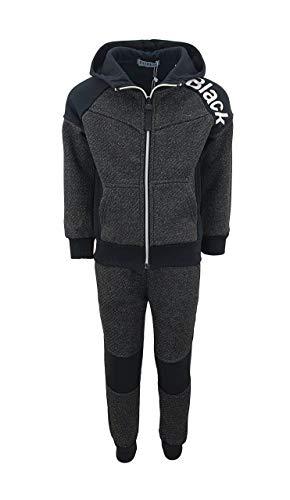 Sports Boy Toller Jungen Trainingsanzug in Dunkel Grau, Gr. 122, JF187.8