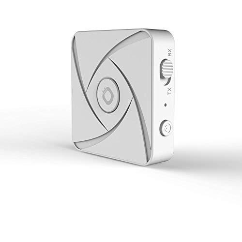 OEHLBACH BTR Xtreme 5.0 Mobiler Bluetooth Dual Pairing Adapter Transmitter/Receiver, 2 in 1, Wireless Sender/Empfänger mit aptX HD und Low Latency - Weiß
