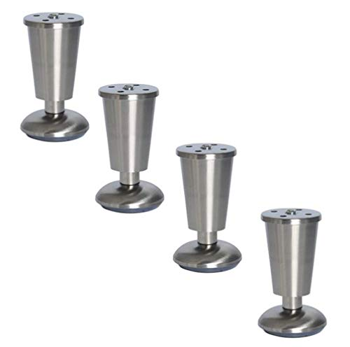 Stabiel Tafel en stoelpoten RVS kabinet Feet Cup Type Feet Sofa Ondersteuning Feet Table Voeten TV Cabinet Feet Duurzaam (Size : 80mm)