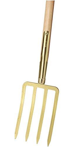 Idealspaten 67050001 Fourche à Bêcher avec Dents de Baïonnette, Or, 85 x 25cm