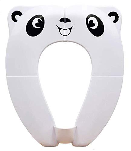 [Upgrade Version] Toilettensitz Kinder - RIGHTWELL Faltbarer Toilettensitz Kinder für Reise Töpfchen,Tragbar Reise WC Sitz Kleinkind Töpfchentrainer mit Aufbewahrungstüte (Weiß)
