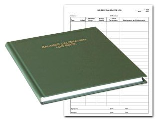 "BookFactory Balance Calibration Log Book - 168 Pages, Green Imitation Leather Cover, Hardbound, 8 7/8"" x 11 1/4"" (LOG-168-BAL-01)"