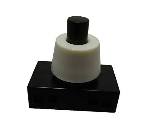 Daier Elektron Einbau Druckschalter für Lampen 250V 2A Schwarz - Weiß