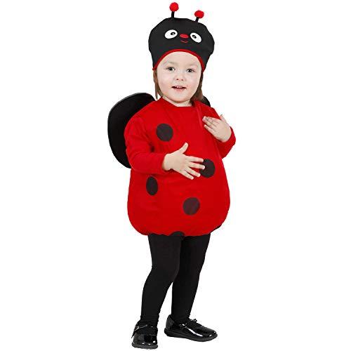 NET TOYS Tierno Disfraz de Mariquita para niño - Rojo 87 - 92 cm, 1 - 2 años - Encantadora Vestimenta para niños pequeños bebé Disfraz de Escarabajo