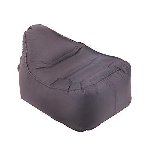 Lazy aufblasbares Sofa Nylon reißfestes Material tragbares Luftbett im Freien-schwarz