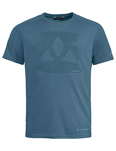 VAUDE Herren T-Shirt Men's Gleann T-Shirt, Blue Gray Uni, XXL, 41807