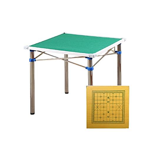 Mesa De Mahjong Plegable, Mesa De Estudio Portátil,Mesa De Mahjong, Mesa De Mahjong De Doble Propósito, 4 Ceniceros, Adecuada para Entretenimiento/Fiesta/Estudio/Trabajo