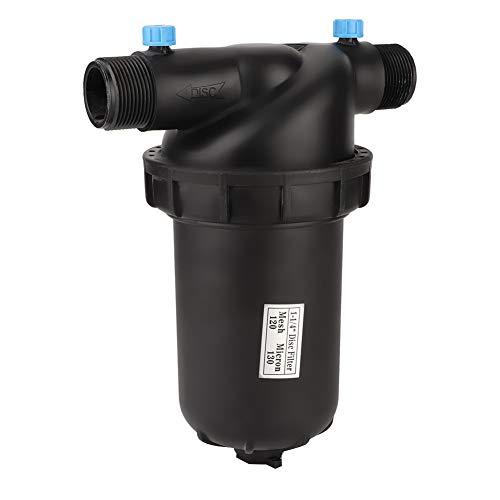 Combort Filtro per l'irrigazione G1-1/4'Filtro a Disco con Filetto Maschio 120 Maglie per filtri agricoli per Giardinaggio Pompa per irrigazione a Goccia