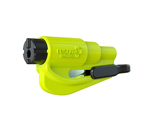 Resqme GBO-RQMTWIN-YELLOWFLUO Rettungswerkzeug als Schlüsselanhänger, Gelb, Set