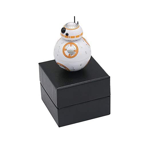 Yucong Star Wars BB8 Especias Grinder Metálico Con Molinillo De Metal Para Hierbas Trituradora Para Hierbas Tabacos Especias En Hogar Moledora Trituradora Premium De Hierbas (2 piezas)