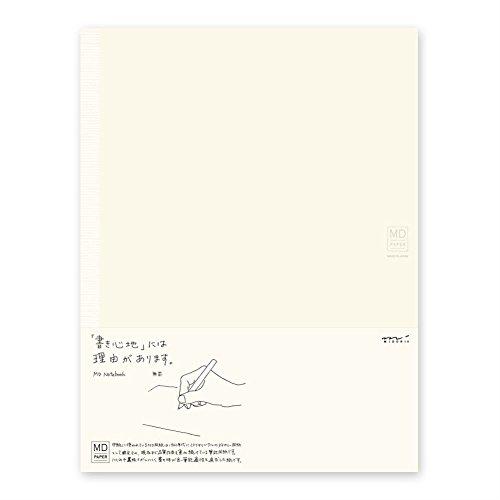 Midori MD Notizbuch, Schreibheft aus japanischem Papier, A4, cremefarben